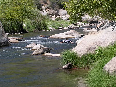 Tubing down the Kern River
