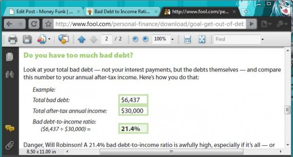 bad debt Motley Fool
