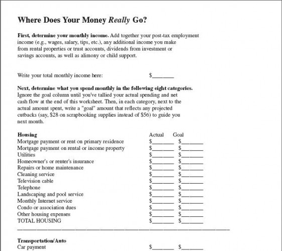 worksheets Money Funk – Budget Worksheet Dave Ramsey